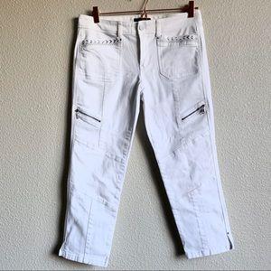 White House Black Market skinny white pants